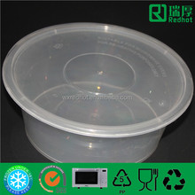 Transparent Microwavable Disposable fast food box /recycled plastic food containers micro 3500ml