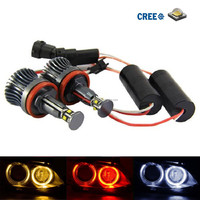 40W CR-EE H8 LED Halo Ring Marker Lights For BMW Angel Eyes Headlight