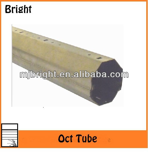 octagonal tubes for tubular motors