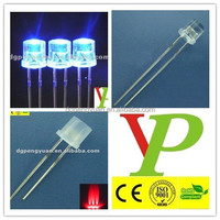 HOT-SALE high bright 5mm red blue flat top led