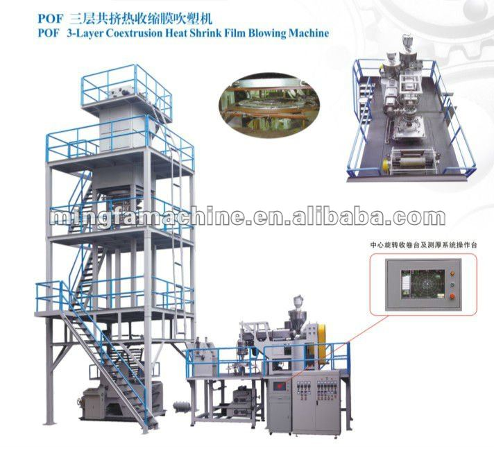 3 layer coextrusion POF shrink film blown machine price