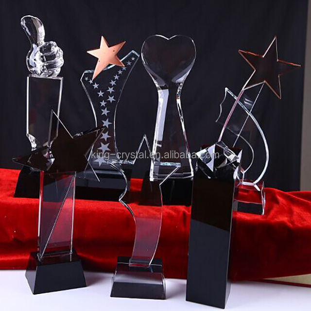 Hot sale factory directly price best partner crystal award plaques and crystal trophy