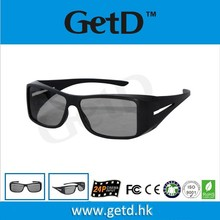 Recycled Black Stainless plastic Frame Circular Polarized 3D Glasses , Thicken 0.72mm Filter Lens CP720G12