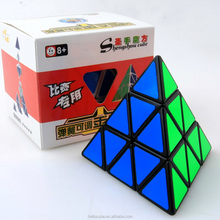 ShengShou Pyraminx Magic Cube Puzzle Black Speed Twist Puzzle Educational Toys