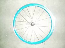 wheel rim set/road bike alloy rim with hub and spoke