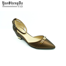 Low Price Ladies Party Wear Chunky Heel Wedge Women Shoes