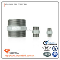 iron nipple reducer malleable iron pipe fittings with npt standard