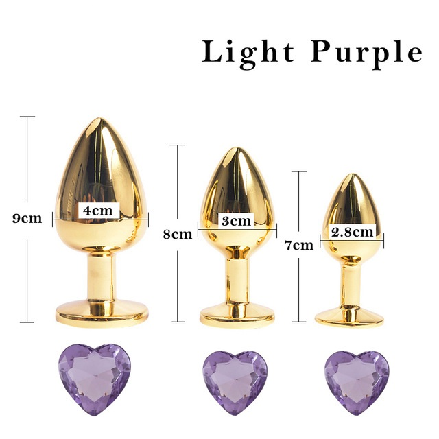Hot sale anal sex toys golden heart shape anal plug adult products sex machine for couple