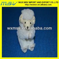 flocked animal toy/small plastic farm animal
