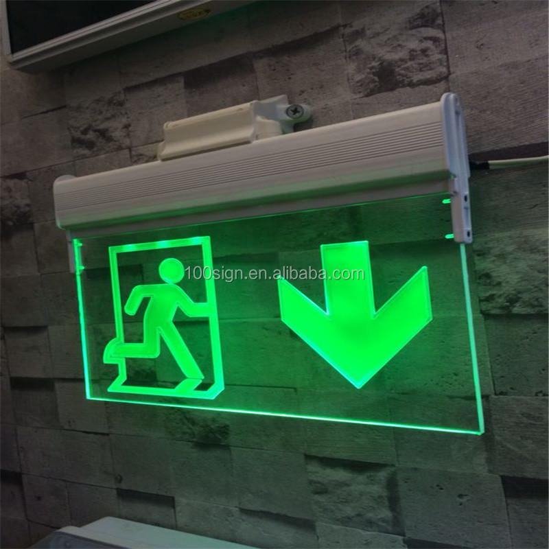 battery operated led emergency exit lights sign buy. Black Bedroom Furniture Sets. Home Design Ideas
