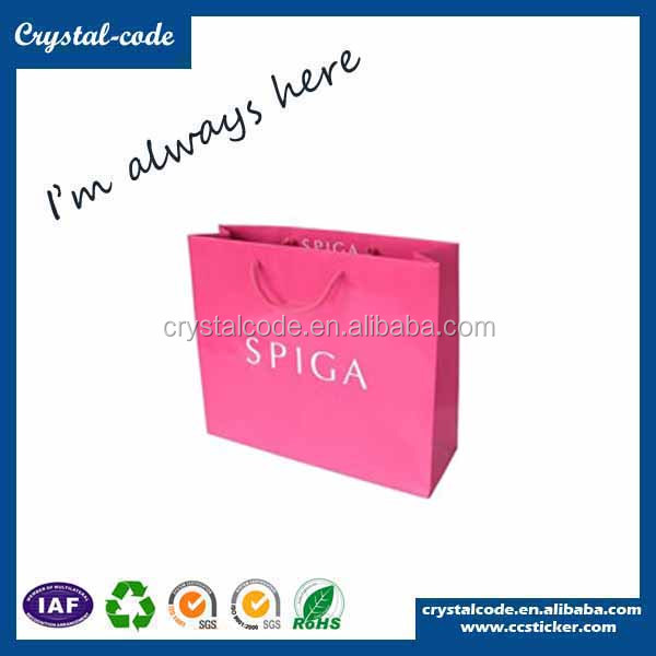 High cost-effective colored eco friendly luxury slogans for paper bag and pharmacy
