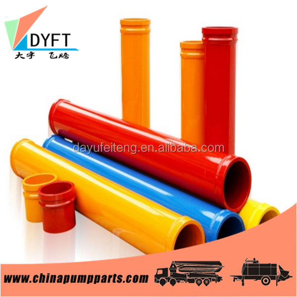 construction concrete mounted pump spare parts Pipe 3 m length ST-52 painted