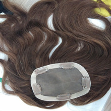High Quality Natural European Hair Invision Hairpieces with Clips