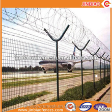 Commercial Wire Mesh airport fence factory supply wrought iron fence for airport
