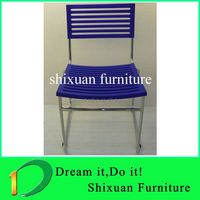 chromed metal legs training chairs plastic seating dining chairs