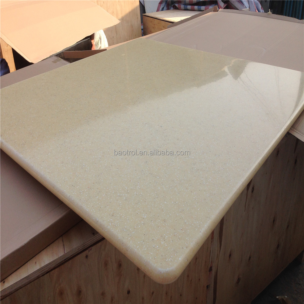 Produce Solid Surface Table Top Faux Marble Slab Engineer