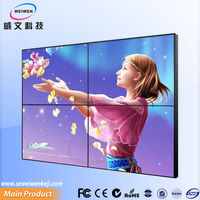 2014 hot High Brightness Ultra-Narrow wall mount 46 inch touch screen monitor wifi display LCD video wall