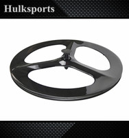 700c 3 tri spoke 23 width china bicycle carbon disc wheels