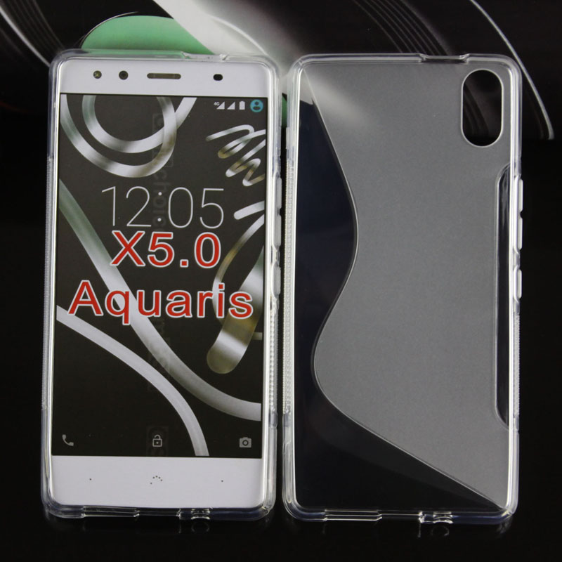 2016 durable and soft mobile phone s line tpu gel skin case cover for BQ aquaris x5/X5.0