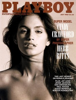 Playboy Magazine July 1988 Cindy Crawford Cover