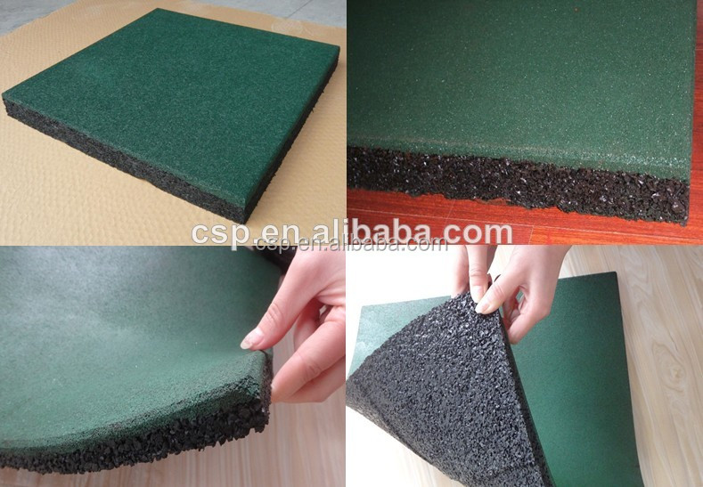 Rubber Flooring Type heat reservation rubber tile for fitness center