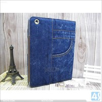 For ipad 2 3 4 Jean style wallet leather stand case