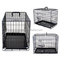 Folding Metal Pet Crate with Removable Tray by CQX Pets