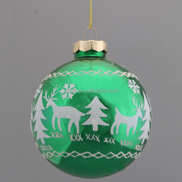 6cm 8cm 10 cm large glass baubles christmas ornaments