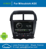 Android OS 2 DIN A8 Chipest 3G Wifi Car DVD Player for Mitsubishi ASX 2011 With GPS Navigation Radio BT TV Ipod
