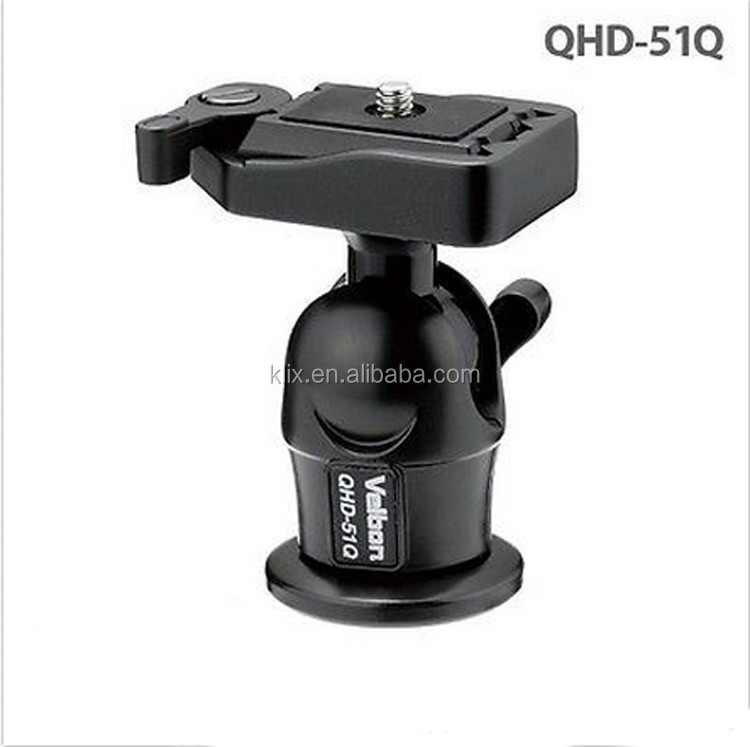 ball head joint QHD-51Q Ball Head for Camera Tripod hot shoe