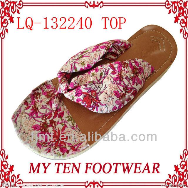 Flora Fabric Fashion Ladies Korea Slippers
