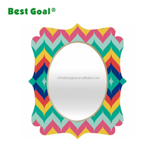 Color wood makeup cosmetic wall mirror