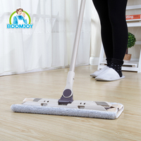 Boomjoy supplier cleaning washable microfiber floor magic clean replaceable head flat dust mop