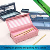 eco- friendly double layers custom color paper pencil box with magnetic lid