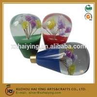 FLOWER DESIGN VINTAGE LUCITE CAR AUTO SHIFT KNOB GEAR SHIFTER