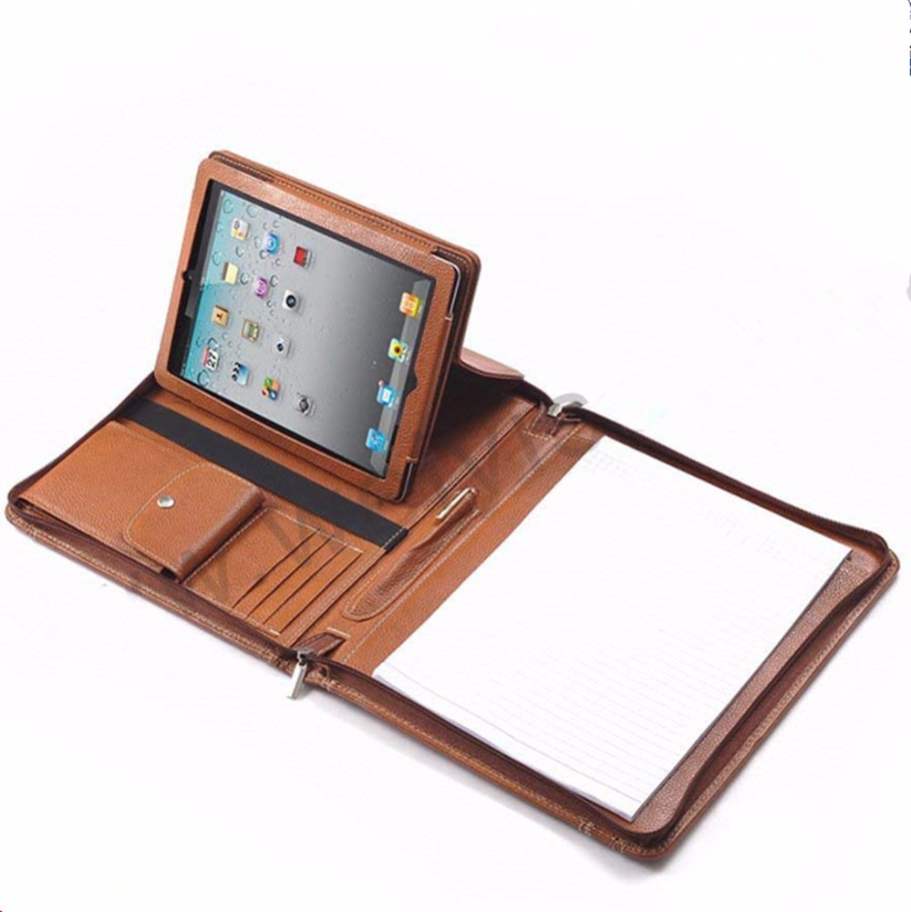 Cover cases for android tablet, portfolio with detachable tablet holder,agenda cover for ipad