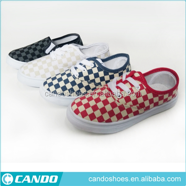 China Guangzhou Wholesale Market Of Plaid Printed Good Price Boy Casual Espadrille Shoes kids footwear wholesale