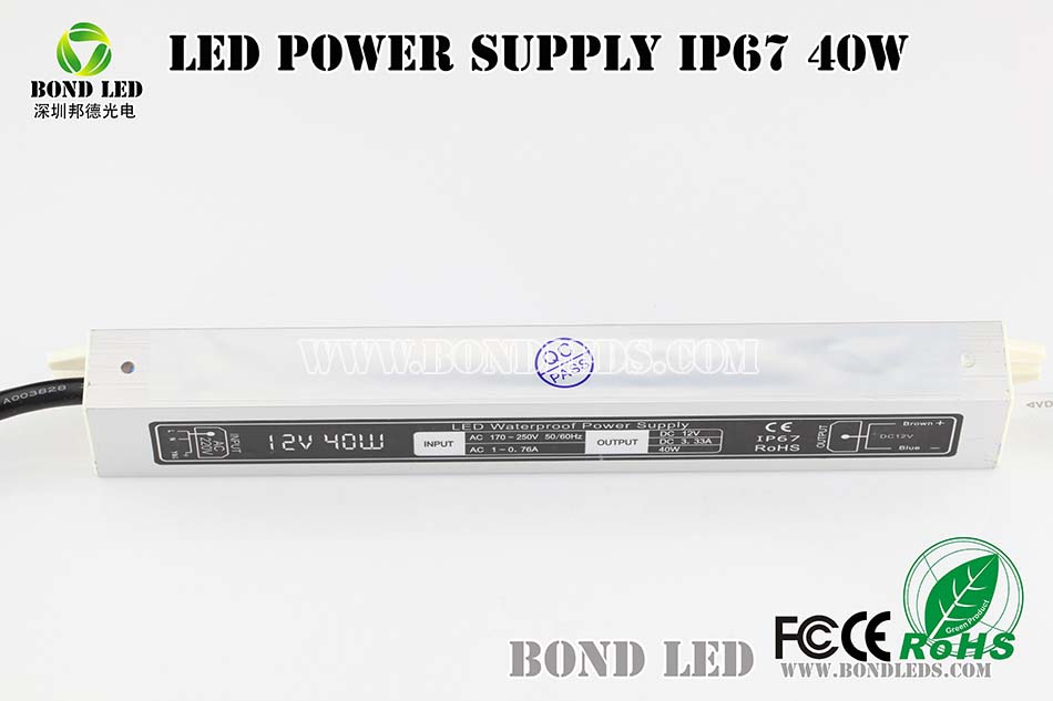 high power 80W waterproof dimmable LED power supply with PWM/DC/Triac dimming control 12V 30~36V 1.8/2.1/2.4A ip67 with CE&ROHS