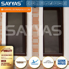 double glazed wood windows tilt design with screen