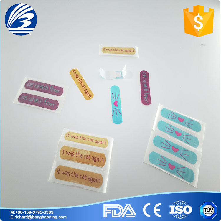 Color band aid,different shape wound adhesive plaster, disposable medical supplies