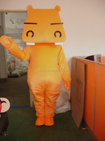 manufactory orange horse with big head carnival costume