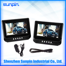 2017 New Fashion Dual Screen Car Portable DVD Player Built in Headrest Seat
