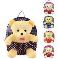 wholesale children school bag tata baby bag oxford fabric detachable cute teddy bears toy backpack for kids