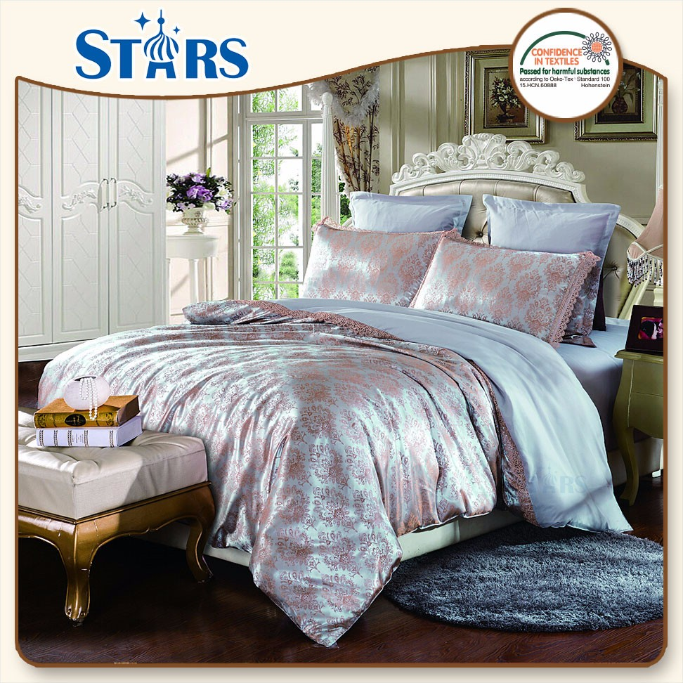 GS-JAC-09 most popular wholesale 100% polyester 4pcs bed in a bag sets