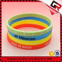 Hand made cheap cool silicone bracelet