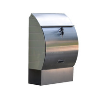 Apartment Modern Stainless Steel Locking Wall Mounted Mailbox/Letter Box Mailboxes Letter Boxes Mailbox Letterbox Mail Box