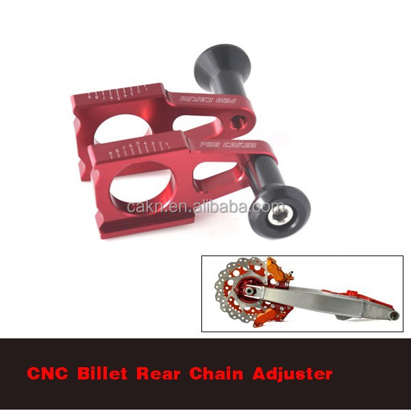 CR 125 250R CRF 250R 250X 450R 450X Billet <strong>Alloy</strong> <strong>Rear</strong> Chain Adjuster <strong>Axle</strong> Blocks With Device