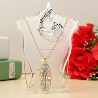 Wholesale crystal acrylic body model jewelry display stand
