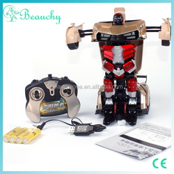 2016 Newest car toy, high sensitivity transformable robot toy, children electric toy car