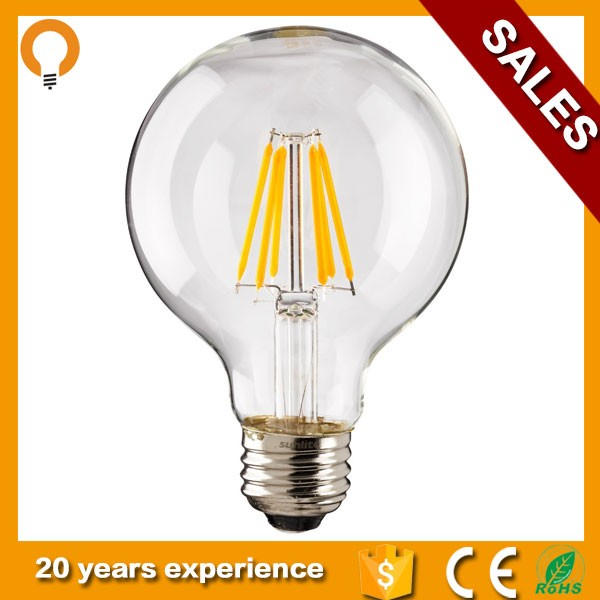 Good Quality G95 Energy Saving LED Filament Lamp Dimmable Bulb